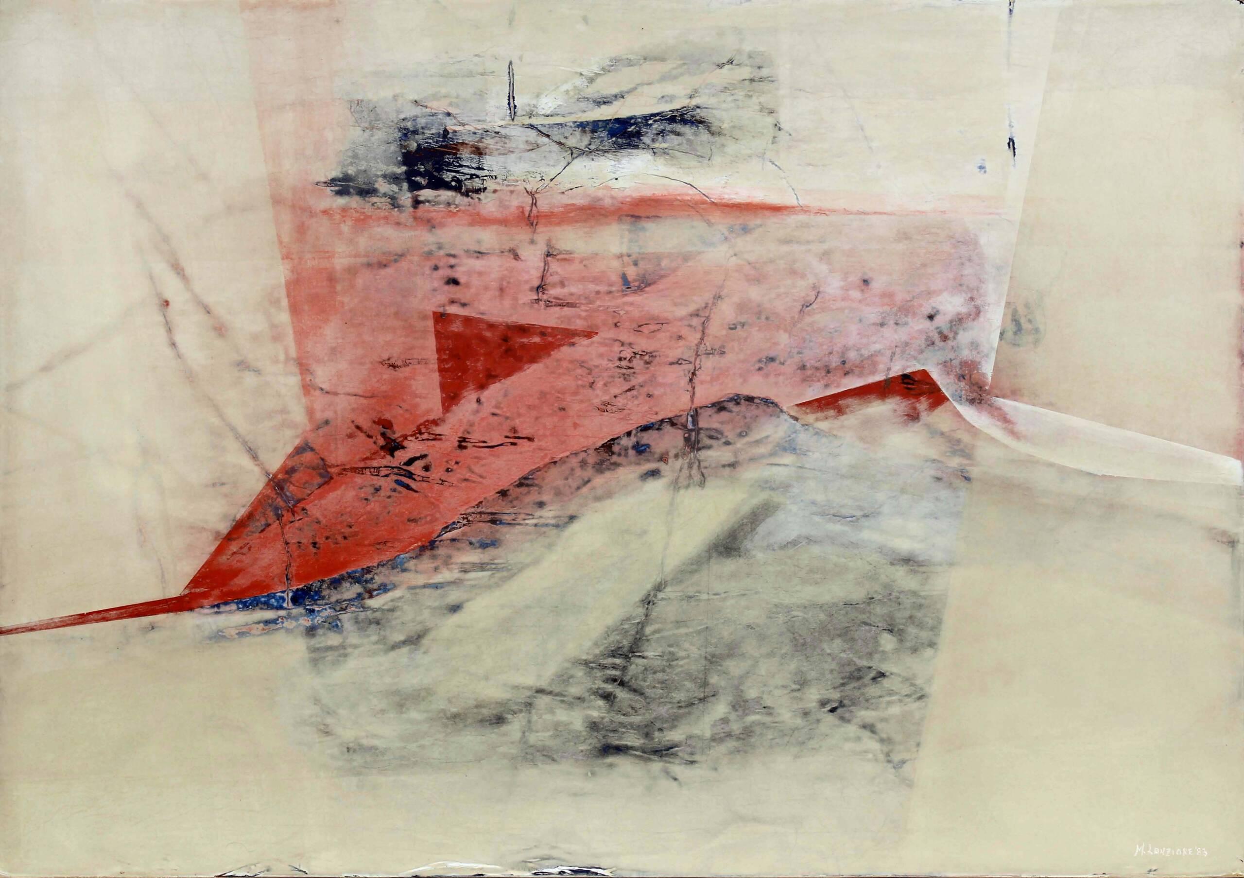 1) 1983 – Sulla soglia del visibile – veline e acrilici su tavola 70×100