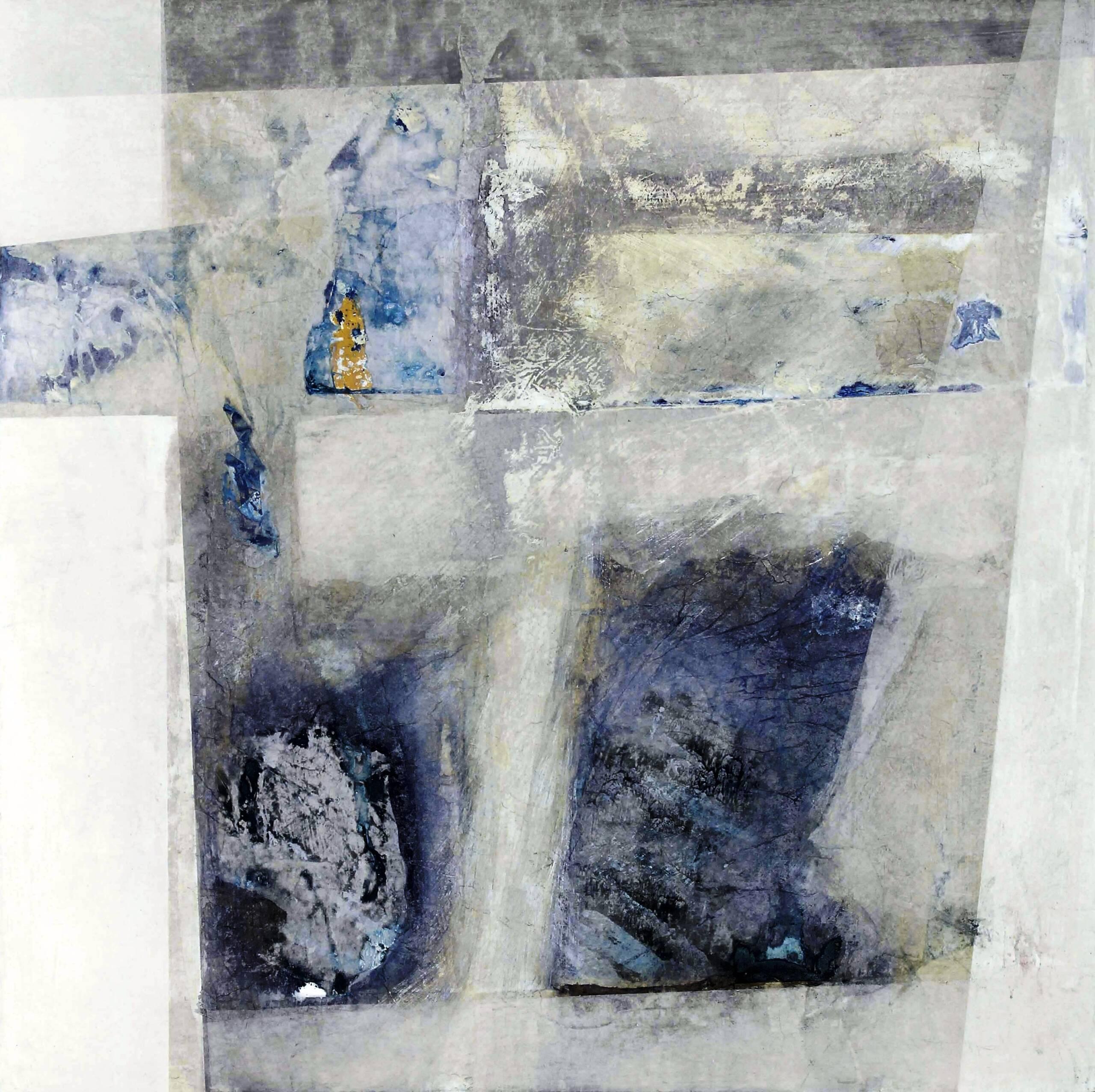 4) 1987 -Nidi d'inverno – veline e acrilici su tavola 60×60