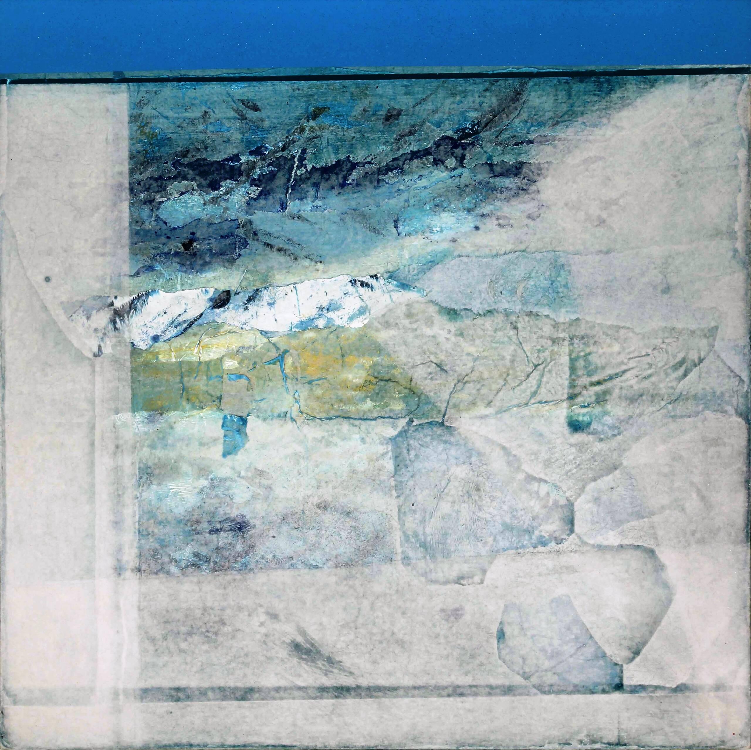6) 1987 – Azzurro – veline e acrilici su tavola 60×60